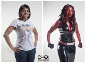 Sherita Dunbar as Red She Hulk, Body Paint by David Dunbar